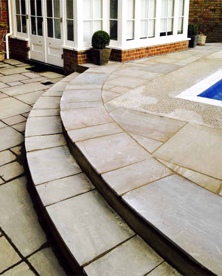 res curved paving